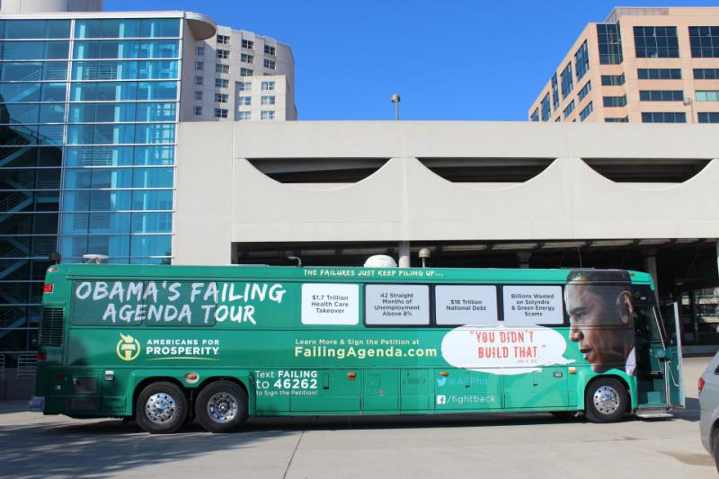 AFP's Obama's Failing Agenda bus (Source: Callen Harty)