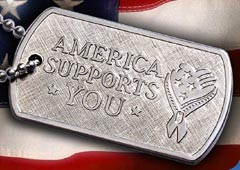 America Supports You dog tag