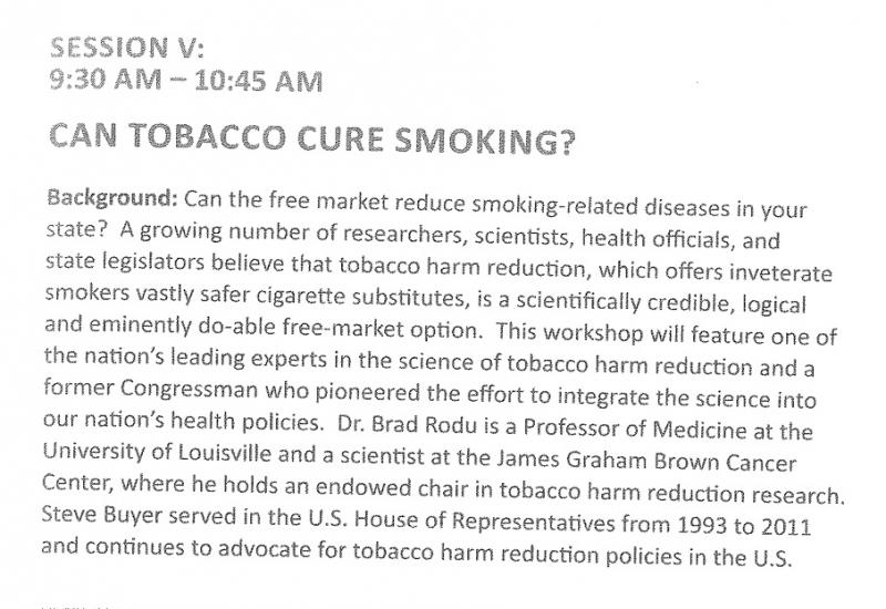 Can Tobacco Cure Smoking?