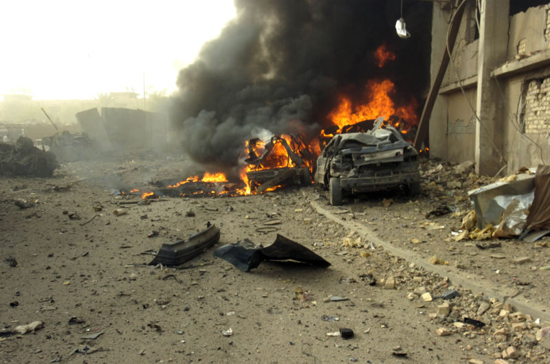 Car bomb in Baghdad (Navy photo)