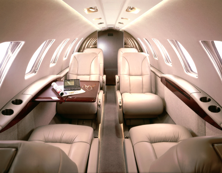 Cessna Citation Jet interior
