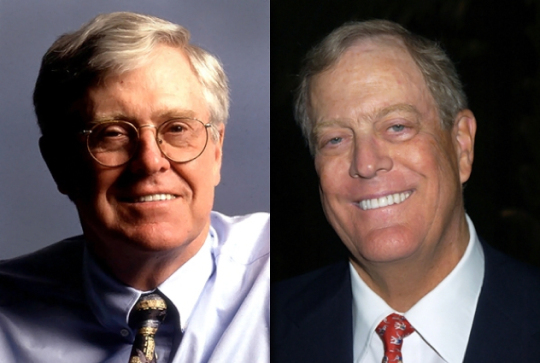 Revealed extensive koch links to new right wing 250 for David charles koch