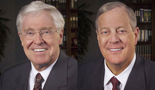 Walker s state of the state will make the koch brothers for Charles und david koch