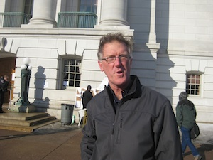 Wisconsinite Denny Caneff was denied access to the Capitol this morning