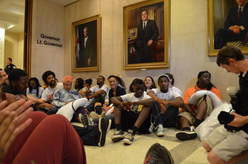 Dream Defenders at the Florida capitol