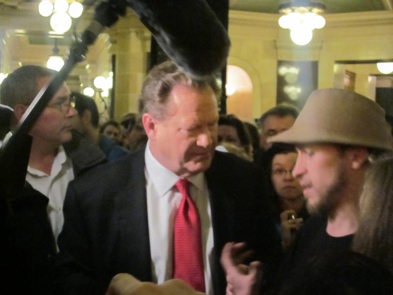 Ed Schultz stops to interview activists of all stripes.
