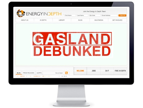 "Energy In Depth ""debunking"" Gasland (Image from EID website)"