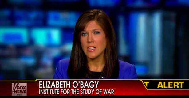 Syria 'expert' Elizabeth O'Bagy beat the war drum on Fox on September 5. (Source: Fox News)
