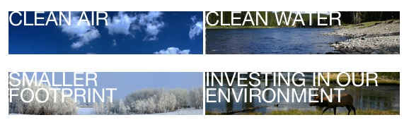 "A portion of the EID website is called ""Environment In Depth"" and features various nature scenes."