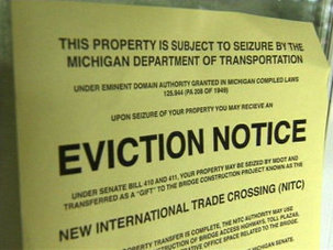 "AFP Michigan's ""eviction notice"""