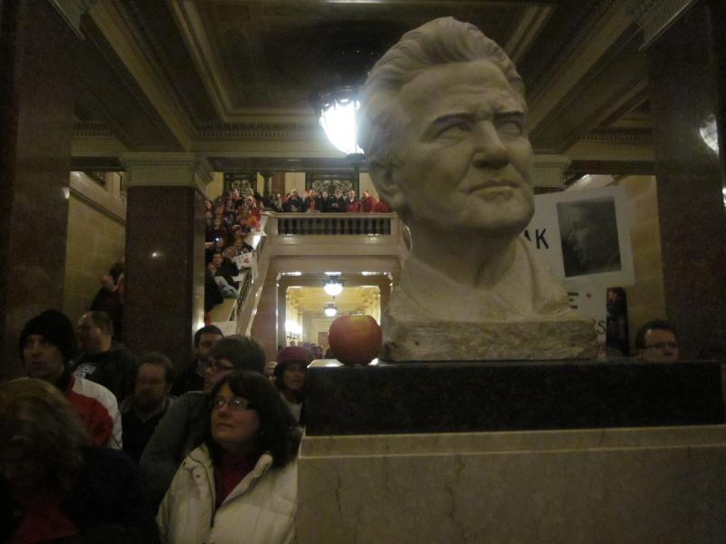 "Bust of ""Fighting Bob"" La Follette"
