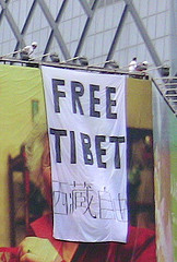 Pro-Tibet Protest During the Olympics