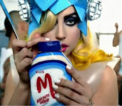 Lady Gaga with Miracle Whip