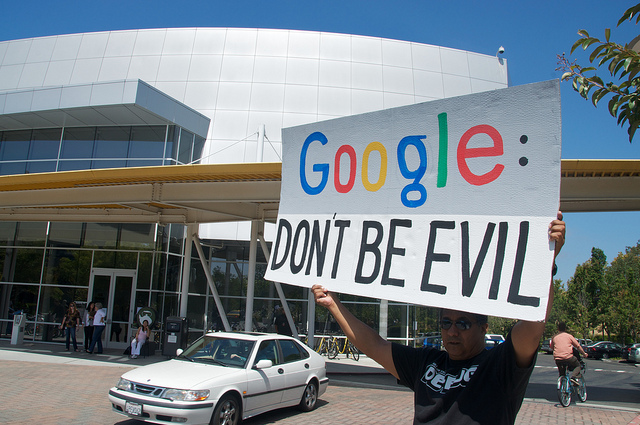 Net neutrality protest at Google headquarters