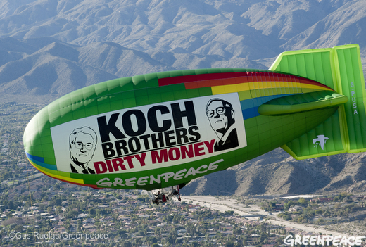 Koch Brothers Greenpeace Blimp