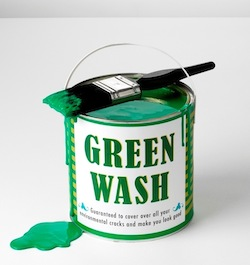 Greenwash paint