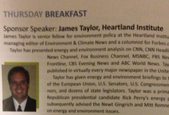 Heartland Institute James Taylor Climate Change Denier