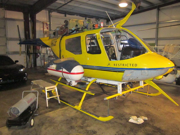 Pesticide applicator's helicopter (Oregon Department of Agriculture)