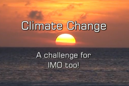 Still from an International Maritime Organization video on climate change