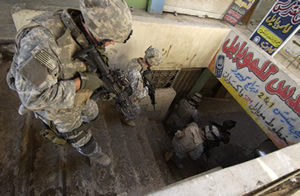 U.S. soldiers in Mosul, Iraq, in 2005