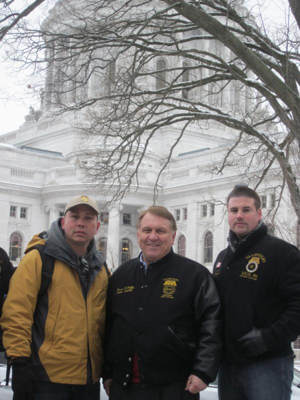 International Brotherhood of the Teamsters President James Hoffa with local teachers