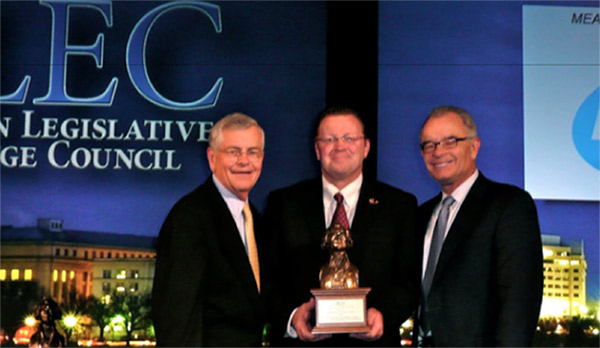Ohio Rep. John Adams receives ALEC Legislator of the Year Award