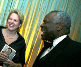 Justice Clarence Thomas and his wife, Ginny (photo via FTWP)