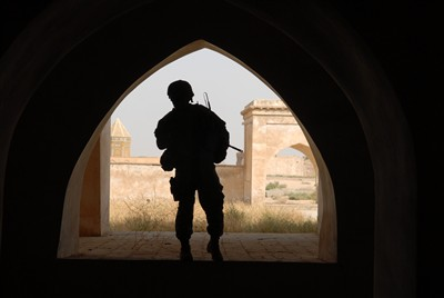 U.S. soldier in Kirkuk (Air Force photo)