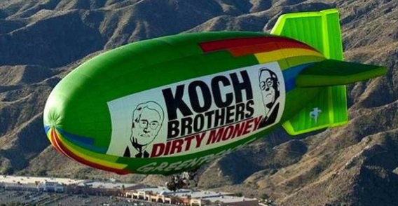 Greenpeace's Koch Blimp