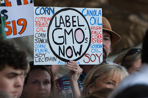 Label GMOs Now sign