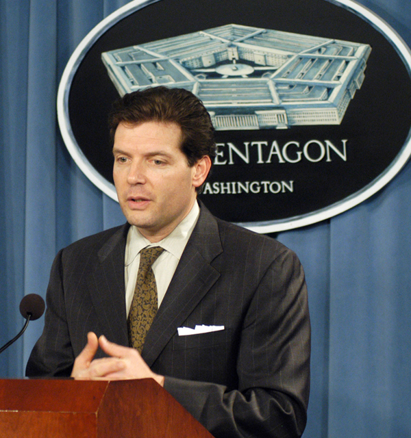 Lawrence Di Rita, during his Pentagon days