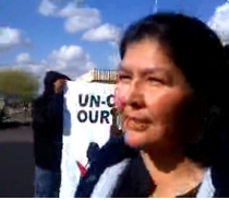 Navaho Louise Benally Speaks Out at Salt River Project