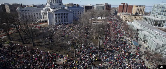 Biggest rally ever in Madison, Wisconsin