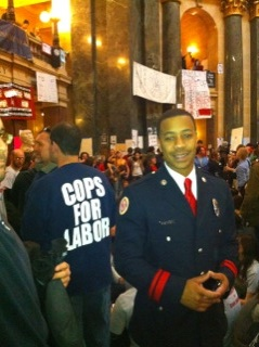 Mahlon Mitchell, President of the Professional Fire Fighters of Wisconsin