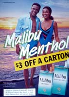 Menthol cigarette ad targeting African Americans