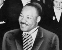 Martin Luther King Jr. receives Nobel Peace Prize in 1964