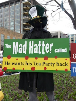 The mad hatter called - he wants his tea party back