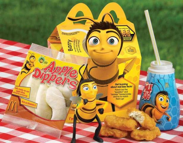 McDonald's Bee Movie toys