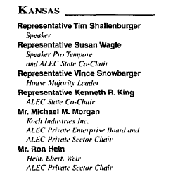1995 Kansas Co-Chairs for ALEC