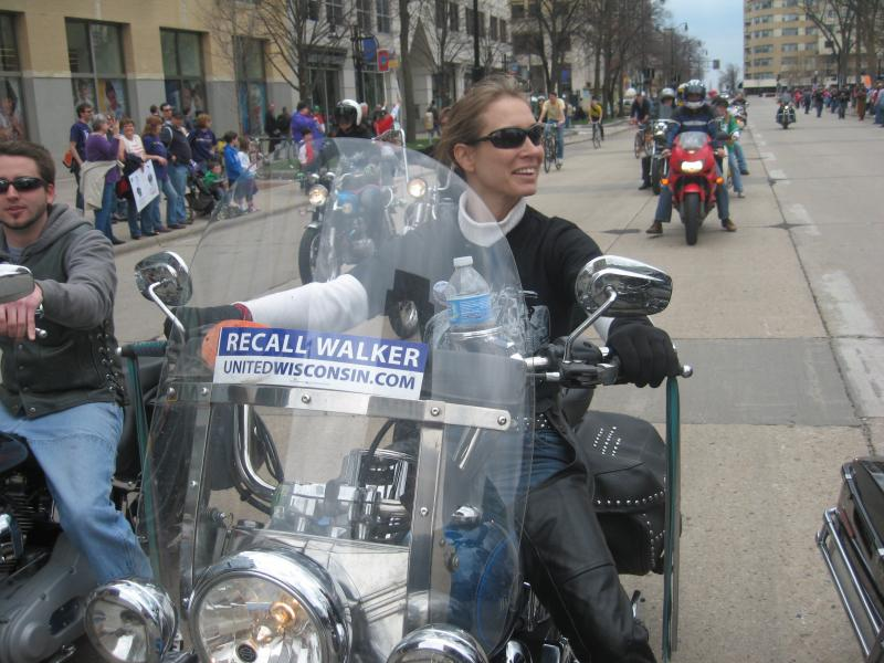 Bikers from all over the Midwest protest Scott Walker's attack on Wisconsin unions