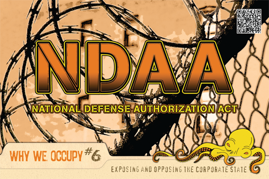 NDAA occupy postcard
