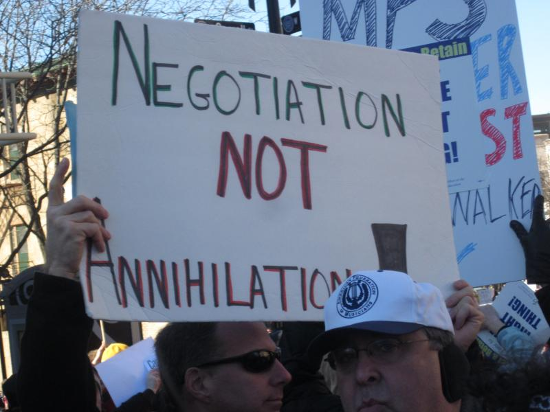 Negotiation Not Annihilation
