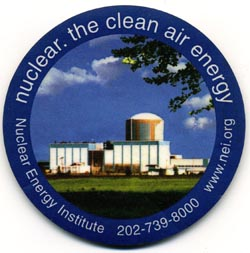 Coaster distributed by NEI at an international climate change meeting