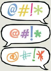 Graphic speech bubbles