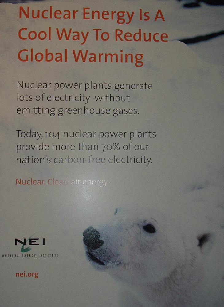 Sign displayed at the NEI conference