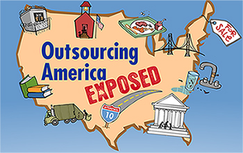 Outsourcing America Exposed map by Mark Fiore for CMD