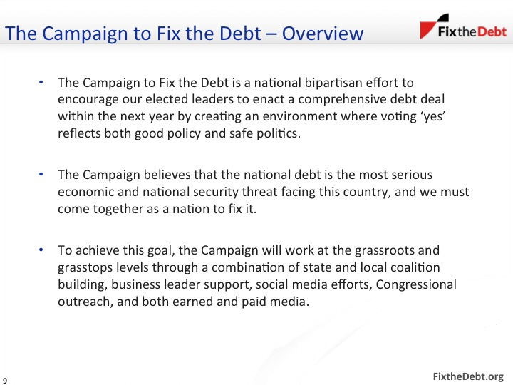 The Campaign to Fix the Debt - Overview