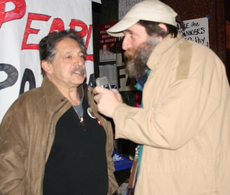 Former Madison Mayor, Paul Soglin (left)