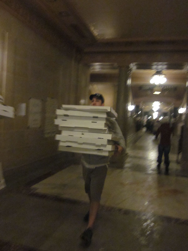 Ian's Pizza has delivered over 1,000 pizzas to the capitol