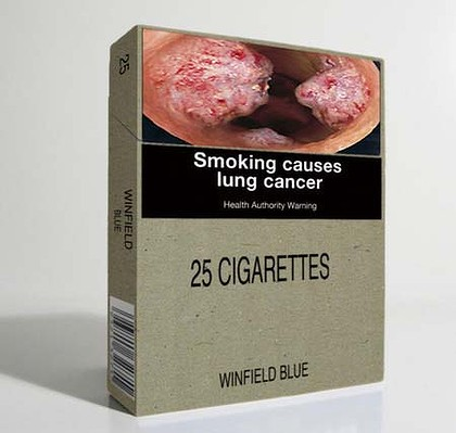 Plain cigarette pack